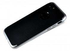 Coque iPhone 7 Carbone Style-Argent