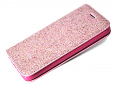 Etui iPhone 7 / iPhone 8 Slim Glitter-Rose