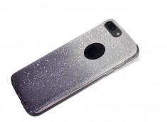 Coque iPhone 7 Plus / iPhone 8 Plus Glitter Wave-Noir