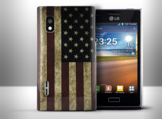 Coque LG Optimus L5 Vintage USA Flag