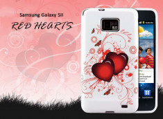 Coque Samsung Galaxy S2 Red Hearts in Love