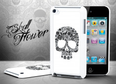Coque iPot Touch 4 Skull Flower