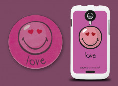 Coque Wiko Cink Five Smiley Love by Moxie