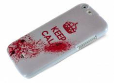 Coque Wiko Stairway Keep Calm Blood