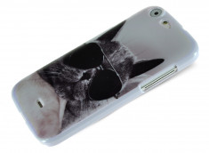 Coque Wiko Stairway Cat Glasses