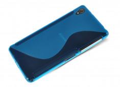 Coque Sony Xperia Z5 Premium Silicone Grip-Bleu