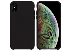 Coque iPhone X/XS Silicone-Noir