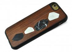 Coque iPhone 6/6S Marbre et Bois Marron