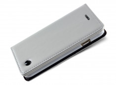 Etui Leather Flip iPhone 5C-Blanc