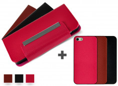 Etui Wallet + Coque iPhone 5C amovible