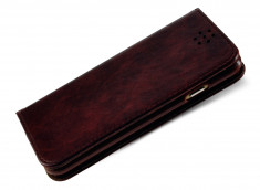 Etui Samsung S6 Edge Plus Leather Flip-Marron