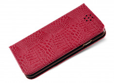 Etui Samsung S6 Edge Plus Croco Flip-Rose