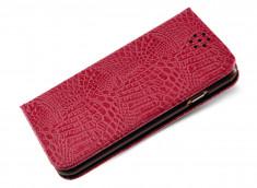 Etui Samsung S6 Croco Flip-Rose