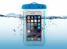 Pochette Waterproof Taille M- Bleu