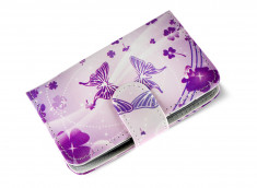 Etui Wiko Cink Plus Purple Butterflies
