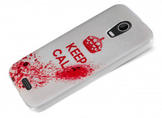 Coque Wiko Darkmoon Keep Calm Blood