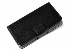 Etui Wiko Sunset Black Leather
