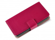 Etui Wiko Ridge 4G Fab Pink Leather