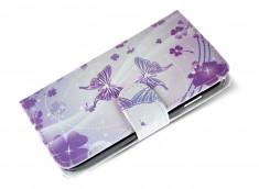 Etui Wiko Stairway Purple Butterflies
