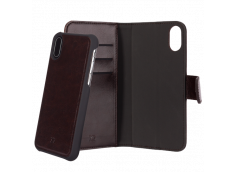 Etui iPhone X/XS 2 en 1 Luxe Eman-Marron