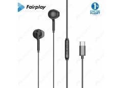 FAIRPLAY ONYX Ecouteurs USB-C (Noirs) (Bulk)