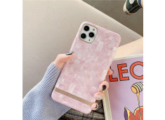 Coque iPhone 12/12 Pro Silicone Marble Pink
