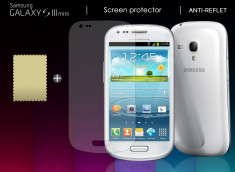 KIT 1 film protecteur anti-reflet +1 chiffon Samsung Galaxy S3 mini