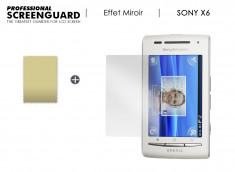 KIT avec 1 film protecteur effet Miroir + 1 chiffon Sony Xperia 6