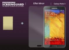 KIT avec 1 film protecteur effet Mirroir  + 1 chiffon - Samsung Galaxy Note 3