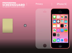 KIT 1 film protecteur ScreenGuard effet Privacy + chiffon iPhone 5C