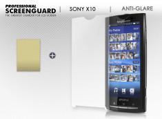 KIT avec 1 film protecteur + 1 chiffon Sony X10 anti-reflet