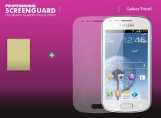 KIT 1 film protecteur Samsung Galaxy Trend effet Diamant + 1 chiffon