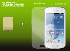 KIT 1 film protecteur Samsung Galaxy Trend effet Miroir  + 1 chiffon