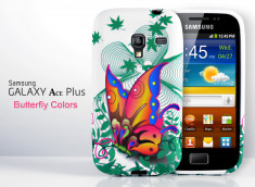 Coque Galaxy Ace Plus Butterfly Colors