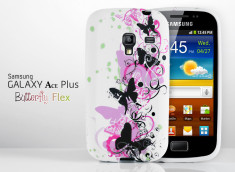 Coque Galaxy Ace Plus Butterfly Flex