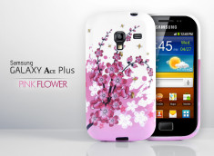 Coque Galaxy Ace Plus Pink Flower