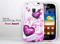 Coque Galaxy Ace Plus Pink Heart