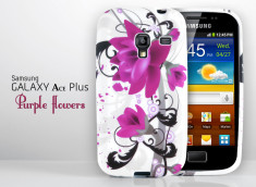 Coque Samsung Galaxy Ace Plus Purple Flower