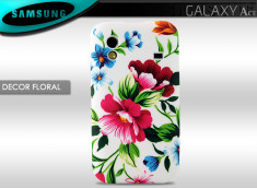Coque Galaxy Ace Décor Floral