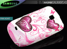 Coque Galaxy S Mini 5570 Pink Heart
