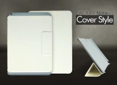 Etui Samsung Galaxy Note 10.1 Cover Style-Blanc cassé