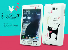 Coque Samsung Galaxy Note 1 Black Cat by HappyMori
