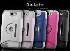Etui Samsung Galaxy Note 2 Spin Karbon