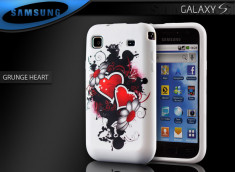 "Coque Galaxy S i9000 ""Grunge Heart"""