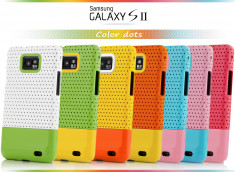 Coque Galaxy S2 Color Dots