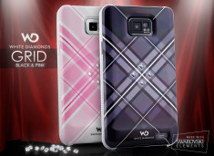 Coque Galaxy S2 White Diamonds - Grid