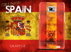 Coque Samsung Galaxy S2 Drapeau Grunge - Espagne
