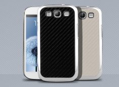 Coque Samsung Galaxy S3 - Carbone & Chrome Leather