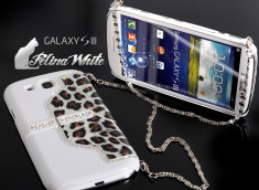 Coque Samsung Galaxy S3 avec support TV Felina- Blanc