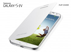 Façade/Etui Samsung Galaxy S4 Flip Cover-Blanc